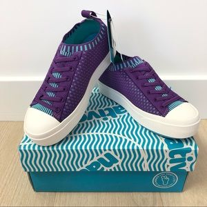 NEW Native Jefferson 2.0 LiteKnit Child Sneaker Purple/Blue - Size 1
